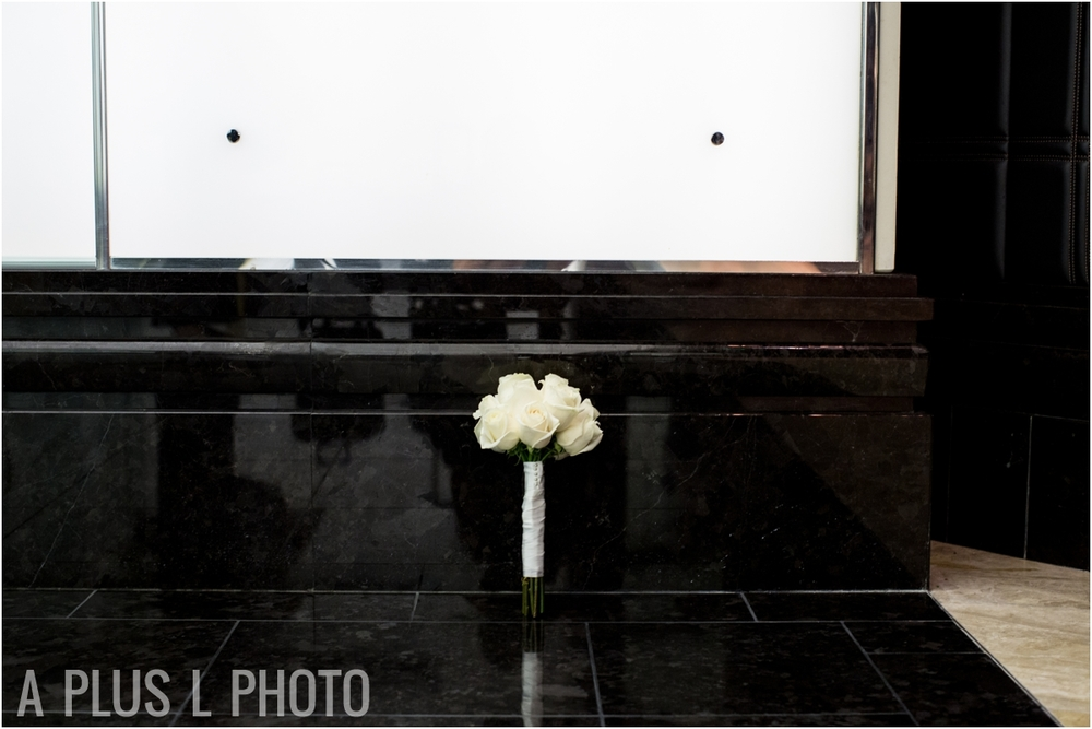 White Rose Wedding Bouquet - Las Vegas Wedding - A Plus L Photo