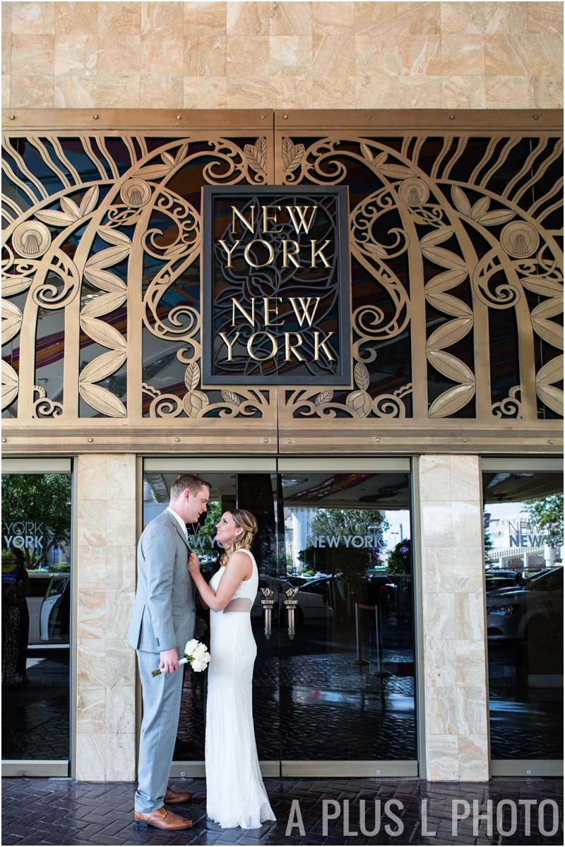 Las Vegas Intimate Wedding - New York New York - A Plus L Photo