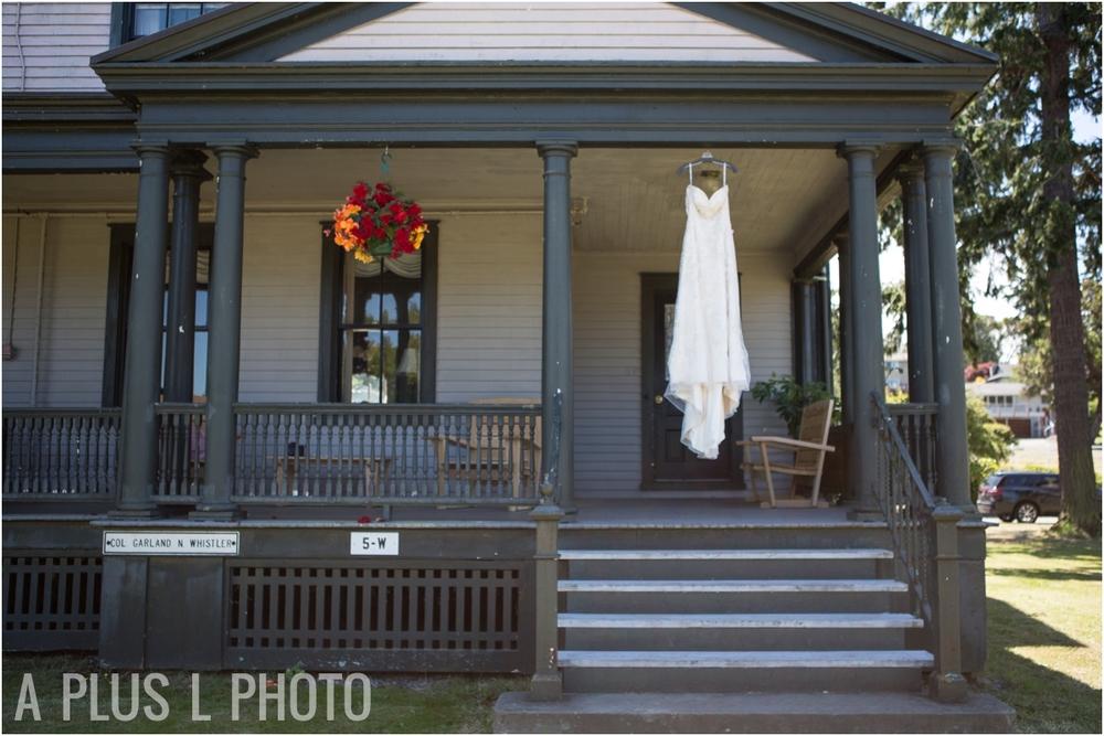 Lace Wedding Dress - Fort Worden Wedding - A Plus L Photo