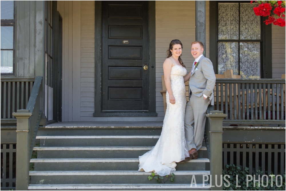 Bride and Groom Portraits - Fort Worden Wedding - A Plus L Photo