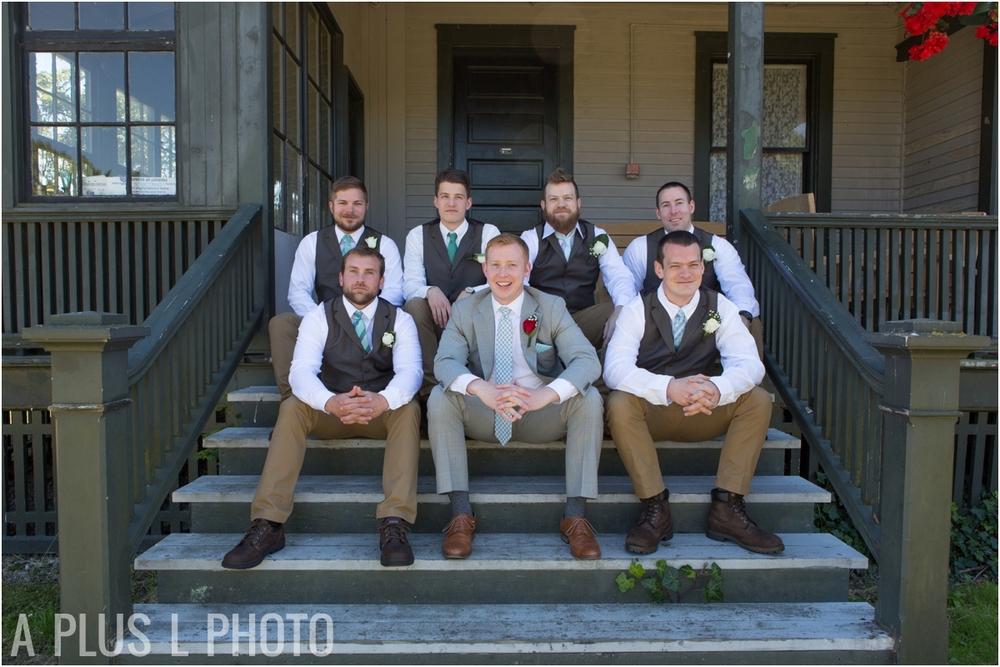 Groomsmen Wardrobe Idea - Fort Worden Wedding - A Plus L Photo