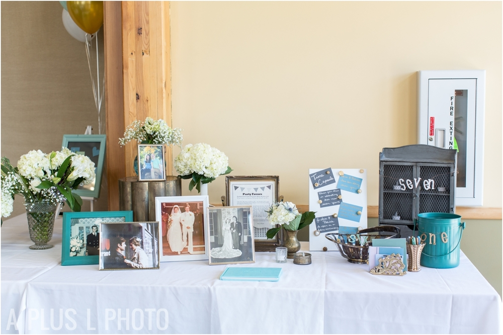 Teal and Gray Wedding Details - Fort Worden Wedding - A Plus L Photo