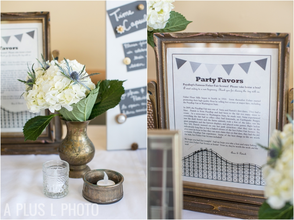 White Wedding Details - Fort Worden Wedding - A Plus L Photo