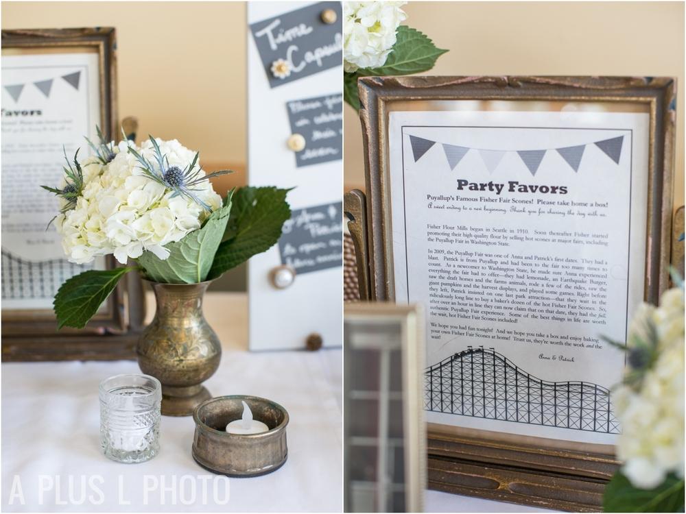 White Wedding Details - Fort Worden Wedding - A Plus L Photo