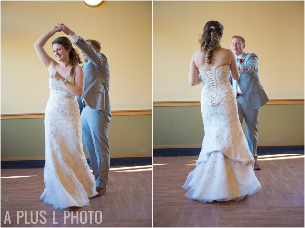 Wedding First Dance - Fort Worden Wedding - A Plus L Photo