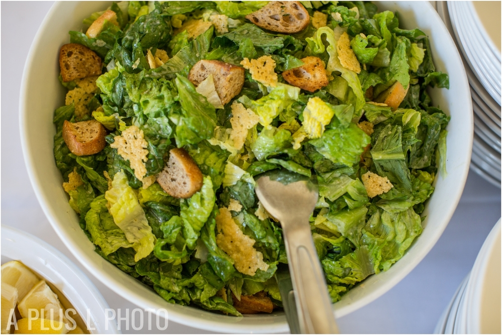 Caesar Salad Wedding Buffet - Fort Worden Wedding - A Plus L Photo