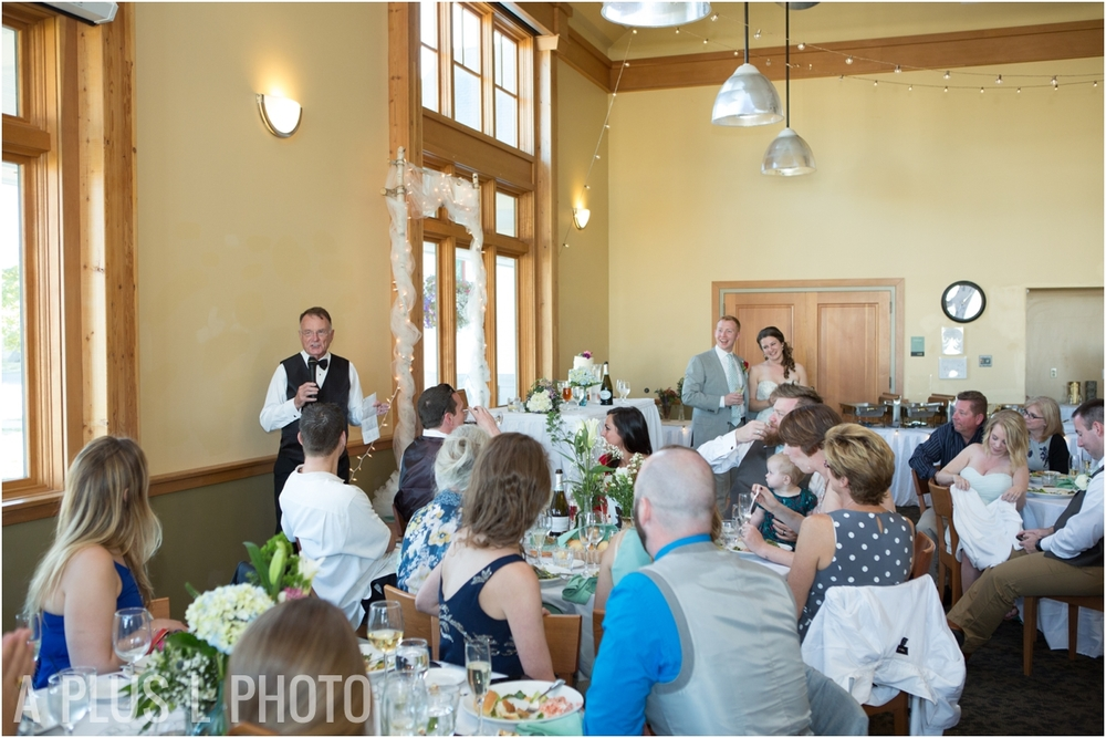 Wedding Speeches - Fort Worden Wedding - A Plus L Photo