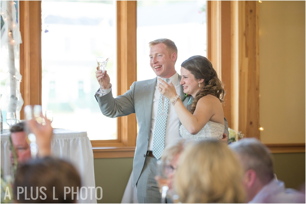 Wedding Toasts - Fort Worden Wedding - A Plus L Photo
