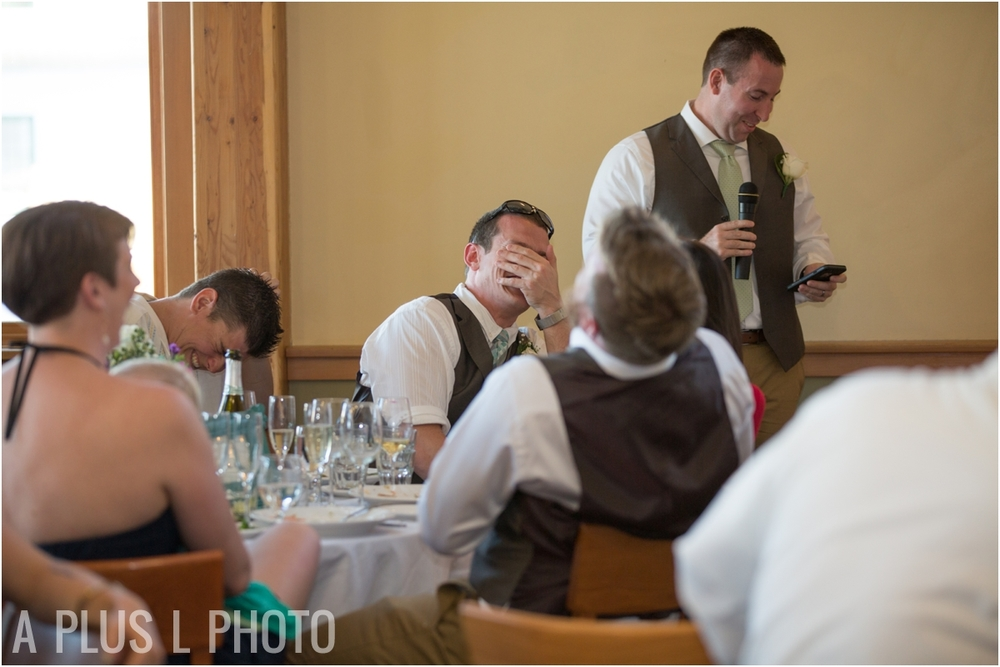 Best Man Speech - Fort Worden Wedding - A Plus L Photo