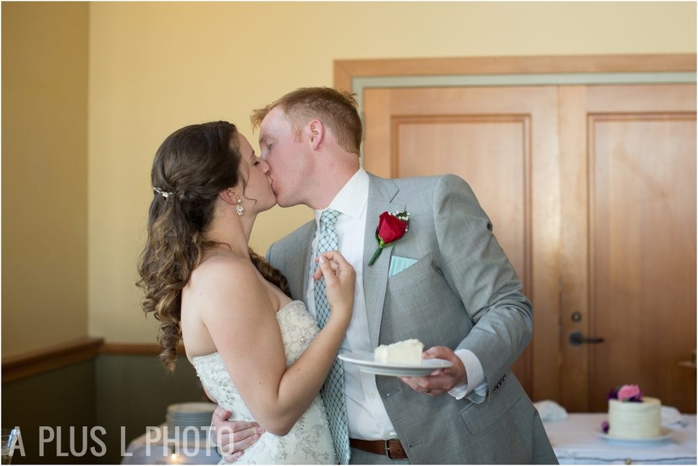 Bride and Groom - Fort Worden Wedding - A Plus L Photo