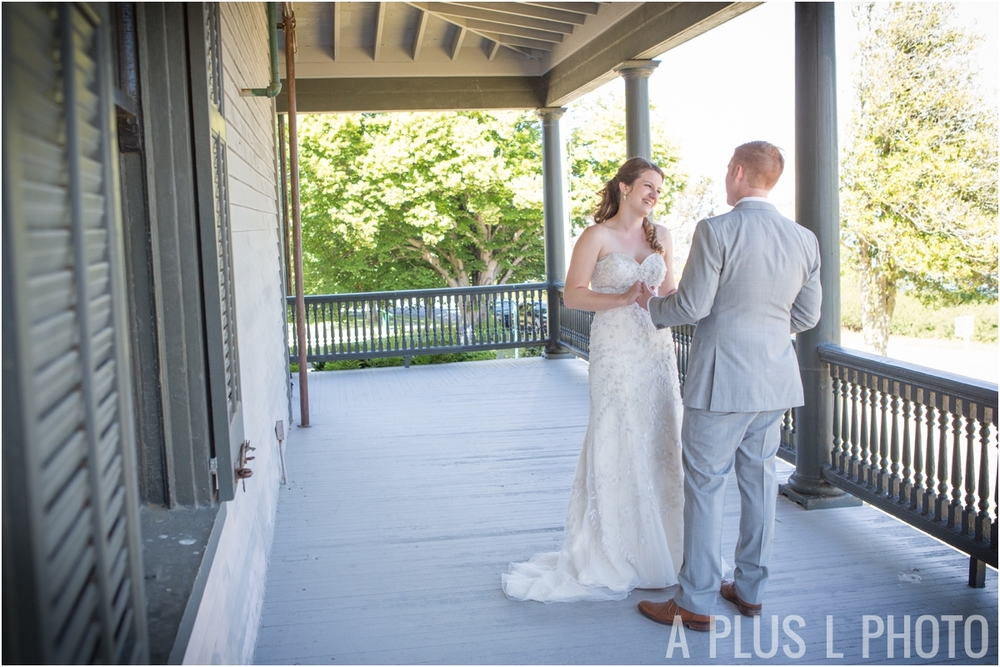 Wedding Day - First Look - Fort Worden Wedding - A Plus L Photo