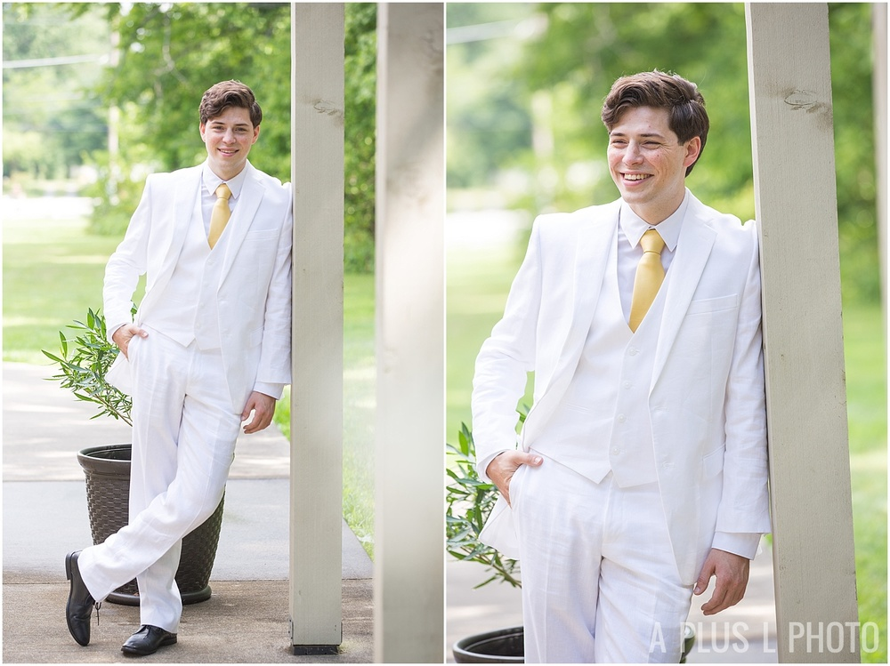 Columbus Ohio Wedding - White Wedding Suit - A Plus L Photo