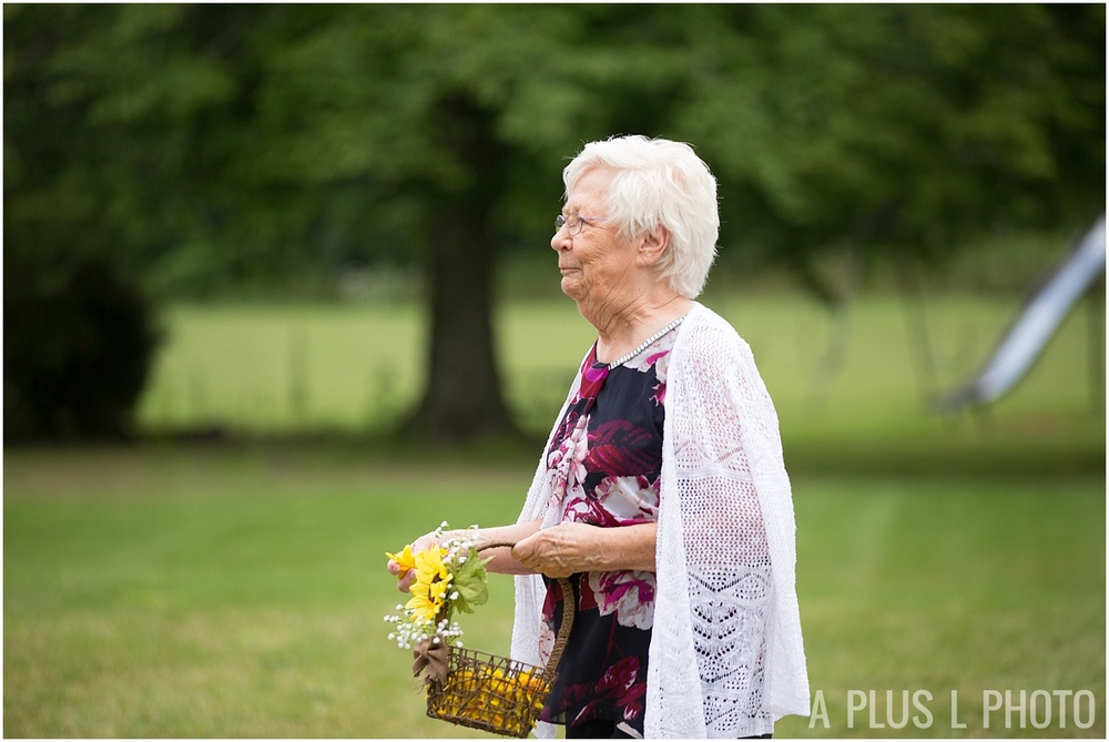 Columbus Ohio Wedding - Flower Girl Grandma - A Plus L Photo