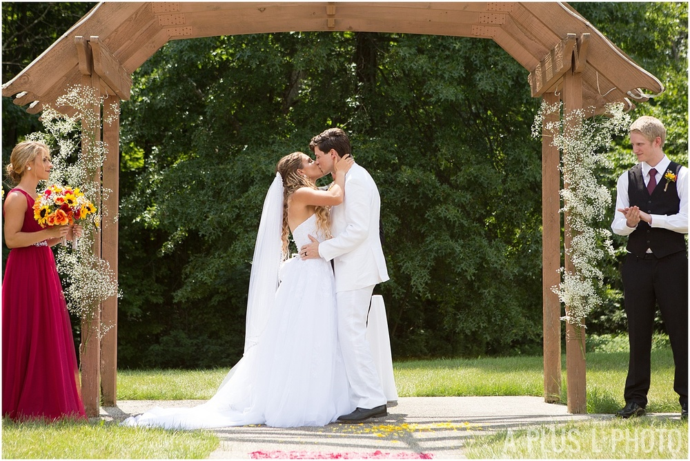 Columbus Ohio Wedding - Wedding First Kiss - A Plus L Photo
