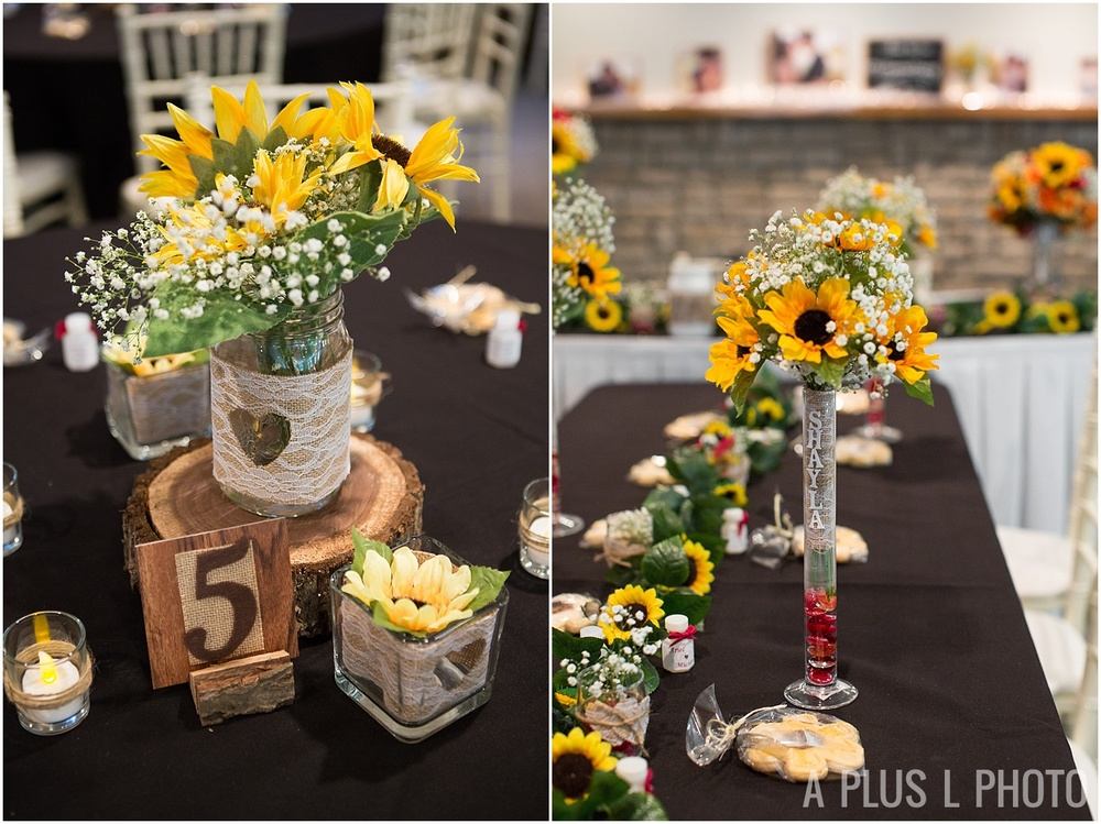 Ohio Wedding - Red and Yellow Rustic Wedding Details - A Plus L Photo