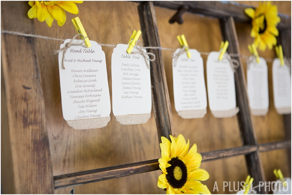 Ohio Wedding - Sunflower Rustic Wedding Details - A Plus L Photo