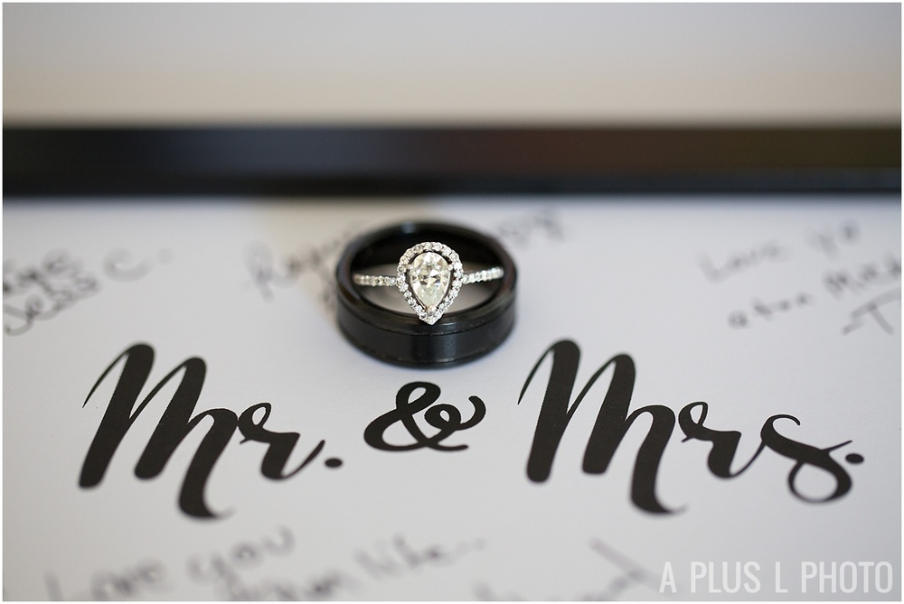 Ohio Wedding - Mr. and Mrs. Wedding Rings - A Plus L Photo