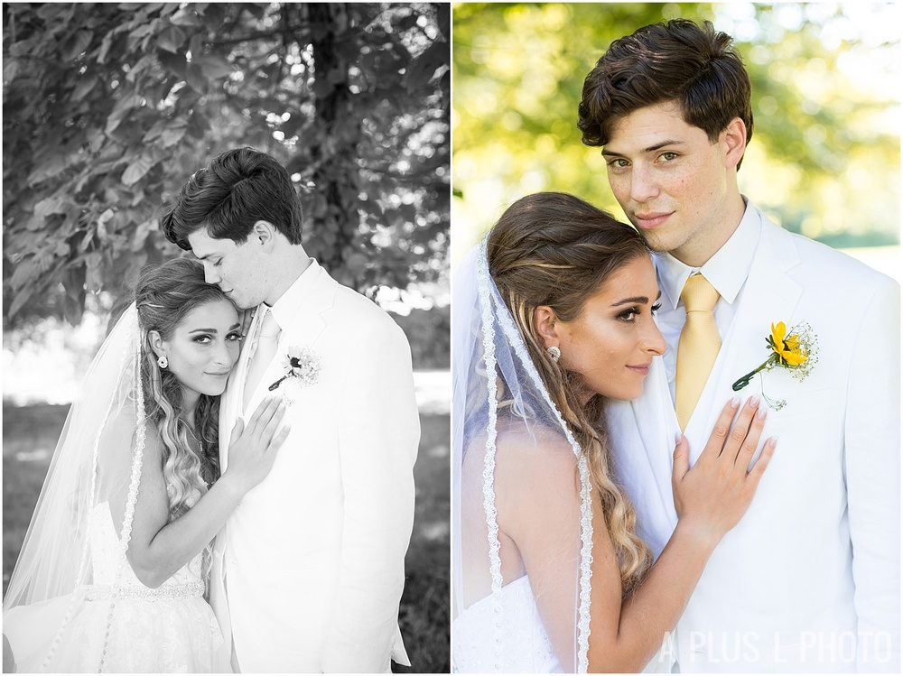 Ohio Wedding - White and Yellow Bridal Portraits - A Plus L Photo