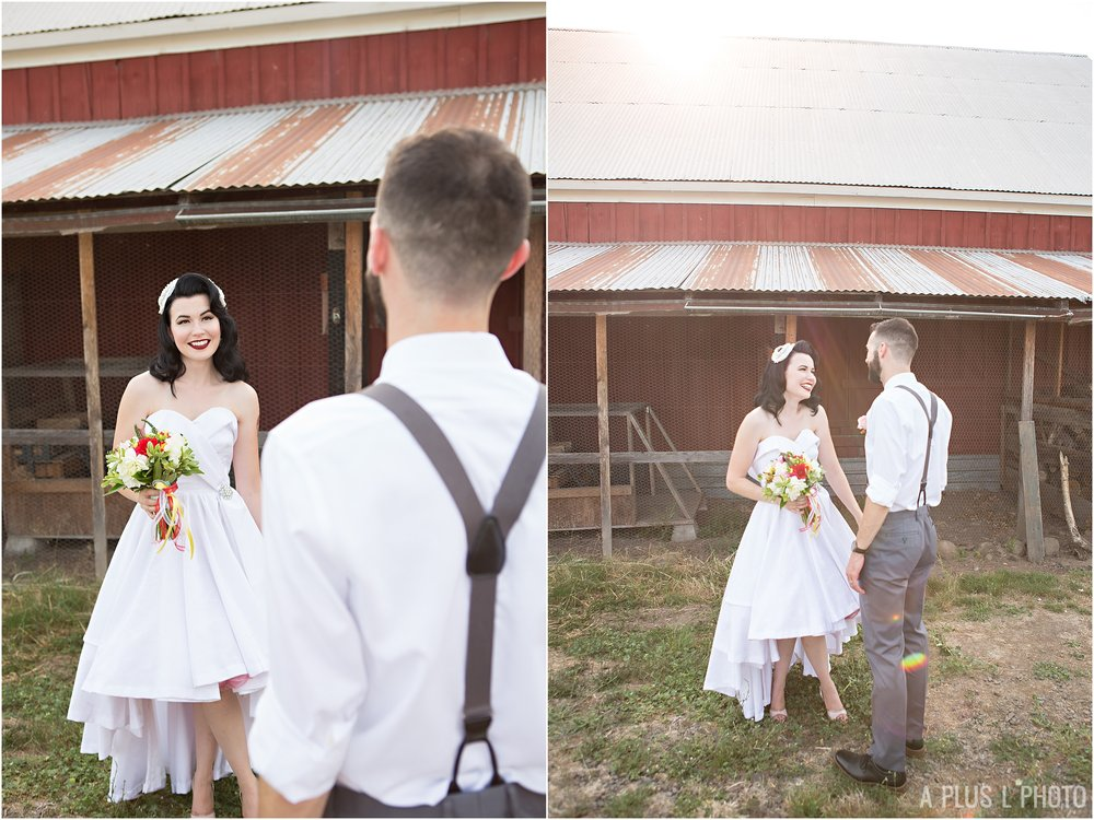 Rockabilly Wedding - Bride and Groom - A Plus L Photo