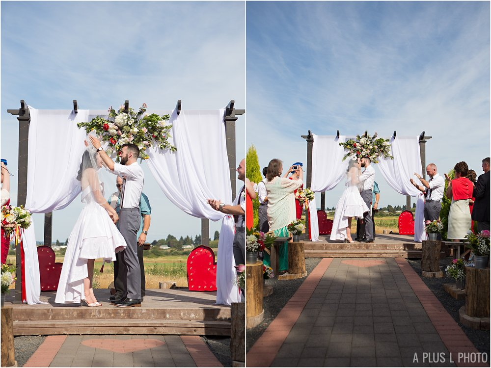 Rockabilly Wedding - Red and Gray Wedding - A Plus L Photo