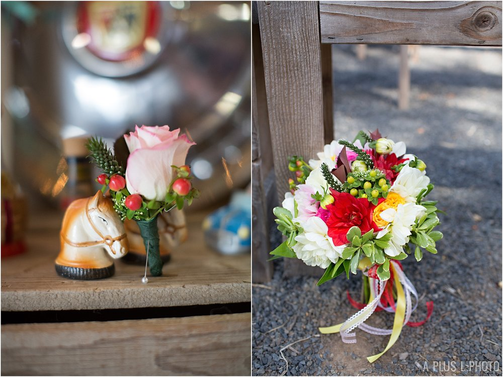 Rockabilly Wedding Inspiration | Colorful Bridal Bouquet | A Plus L Photo