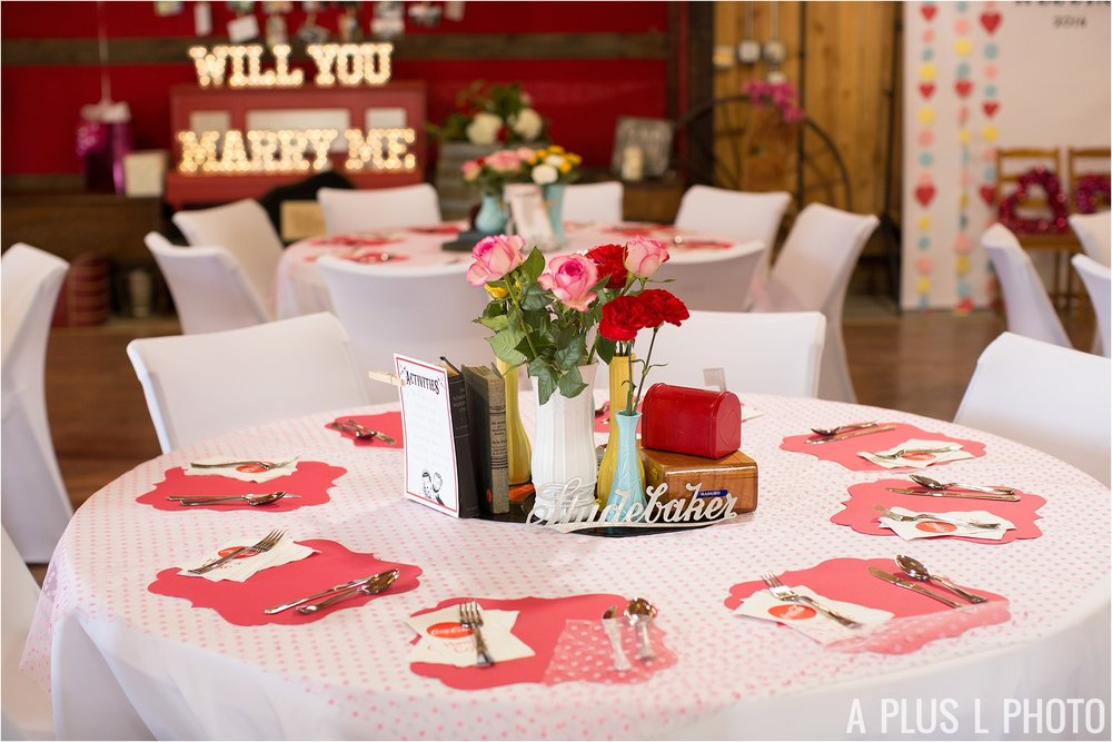 Rockabilly Wedding - Vintage Table Setting - A Plus L Photo