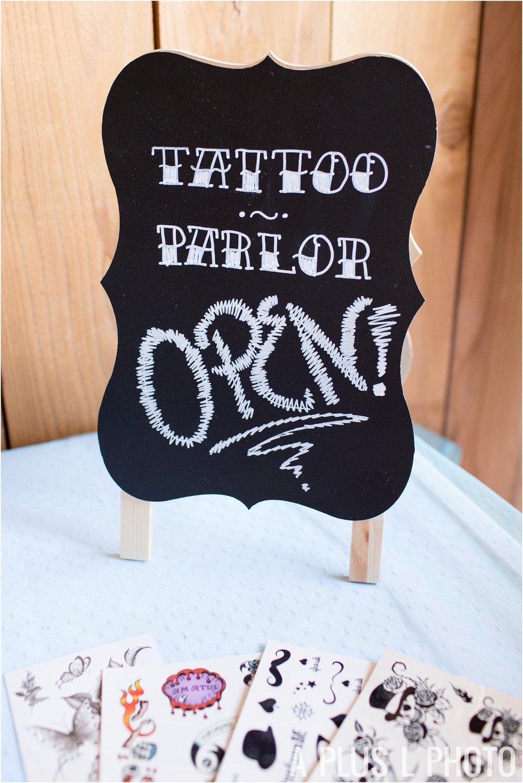 Rockabilly Wedding - Temporary Tattoo Wedding Favors - A Plus L Photo