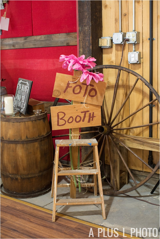 Rockabilly Wedding - DIY Colorful Wedding Booth - A Plus L Photo