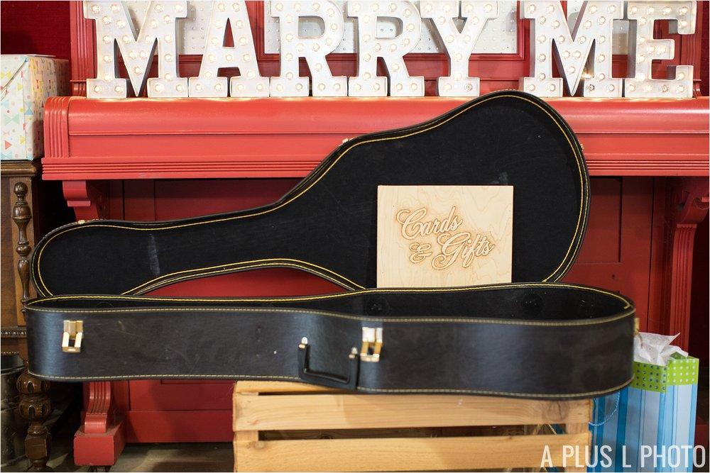 Rockabilly Wedding - DIY Colorful Wedding Inspiration - Guitar Case for Wedding Cards - A Plus L Photo
