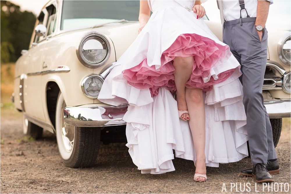 Colorful Rockabilly Wedding - Bride and Groom Portraits - A Plus L Photo