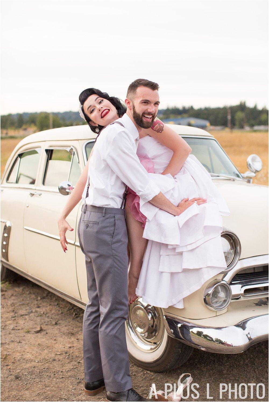 Colorful Rockabilly Wedding - Funny Bridal Portraits - A Plus L Photo