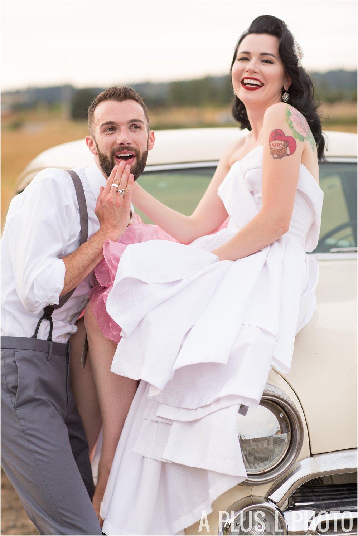 Colorful Rockabilly Wedding - Funny Bridal Portrait - A Plus L Photo