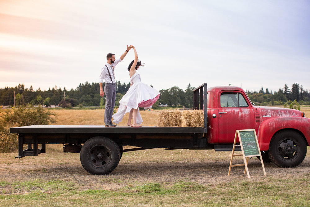 Colorful Rockabilly Wedding - Bride and Groom Dancing - A Plus L Photo