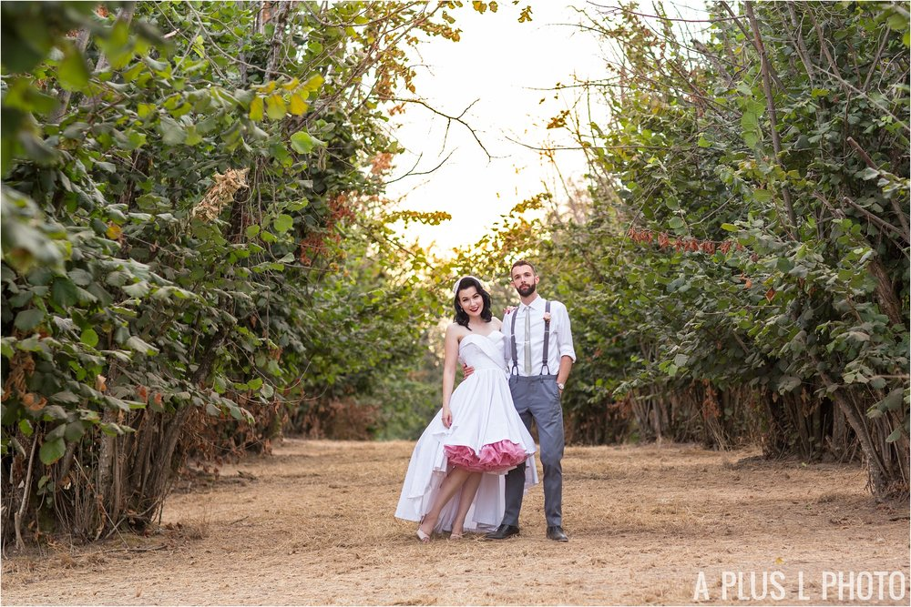 Colorful Rockabilly Wedding - Bride and Groom Portraits - Heart of Rock - A Plus L Photo