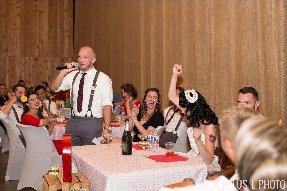 Colorful Rockabilly Wedding - Best Man Speech - Heart of Rock - A Plus L Photo