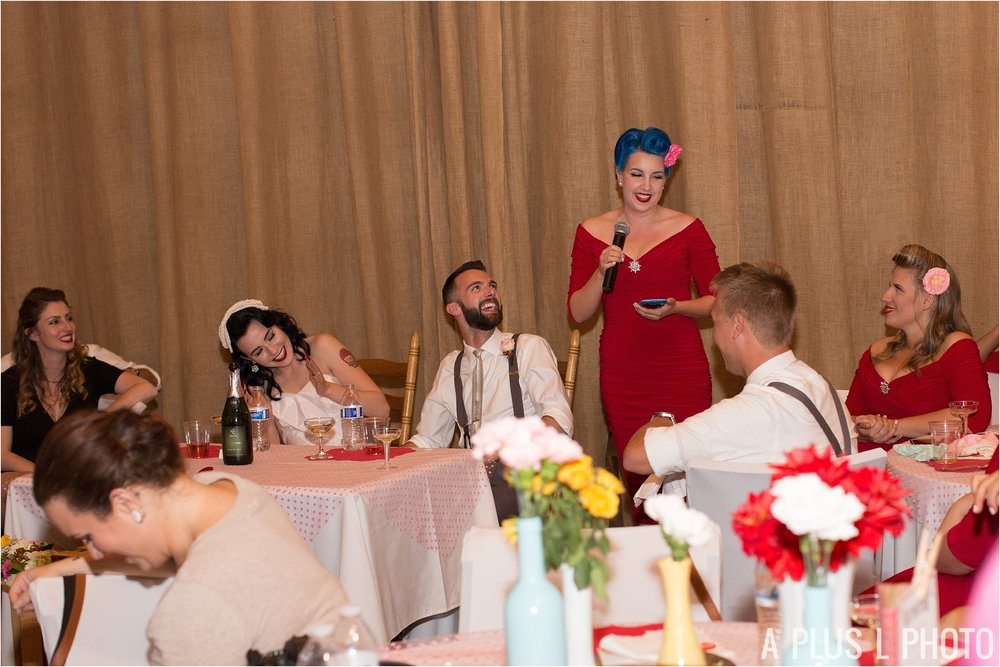 Colorful Rockabilly Wedding - Maid of Honor Speech - Heart of Rock - A Plus L Photo