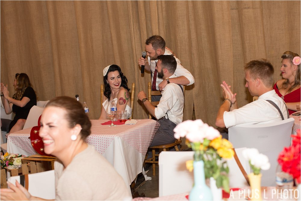 Colorful Rockabilly Wedding - Groomsmen Speech - Heart of Rock - A Plus L Photo