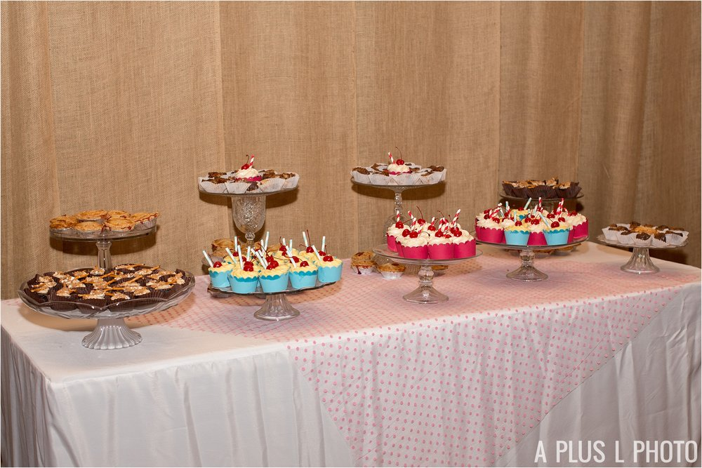 Colorful Rockabilly Wedding - Colorful Dessert Table - Heart of Rock - A Plus L Photo
