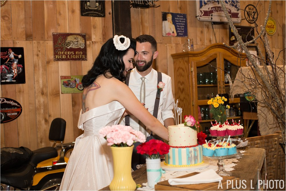 Colorful Rockabilly Wedding - Colorful Wedding Cake - Heart of Rock - A Plus L Photo