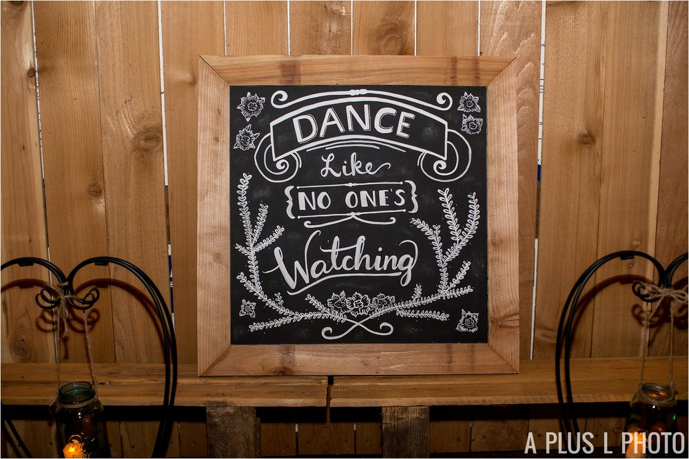 Colorful Rockabilly Wedding - Dance Like No Ones Watching Chalkboard Sign - Heart of Rock - A Plus L Photo