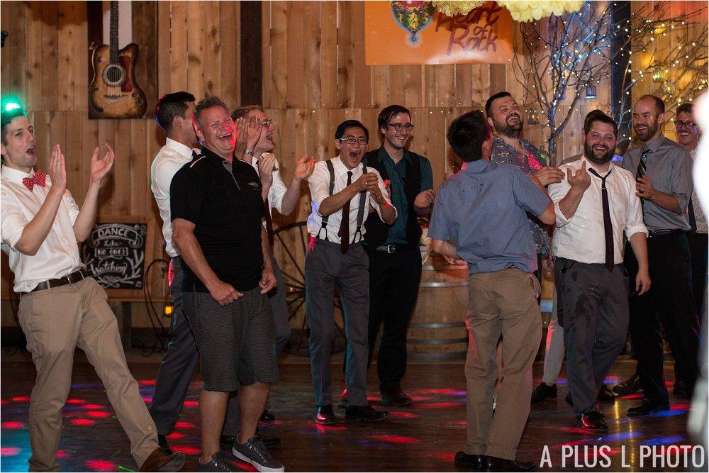 Colorful Rockabilly Wedding - Garter Toss - Heart of Rock - A Plus L Photo
