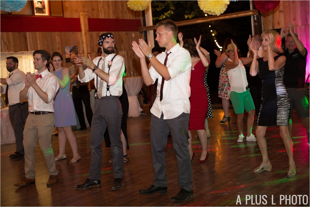 Colorful Rockabilly Wedding - Reception Dance Party - Heart of Rock - A Plus L Photo