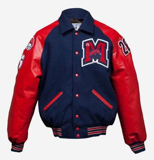 maverick jacket style vrbq custom varsity letter jacket with vinyl raglan style sleeves