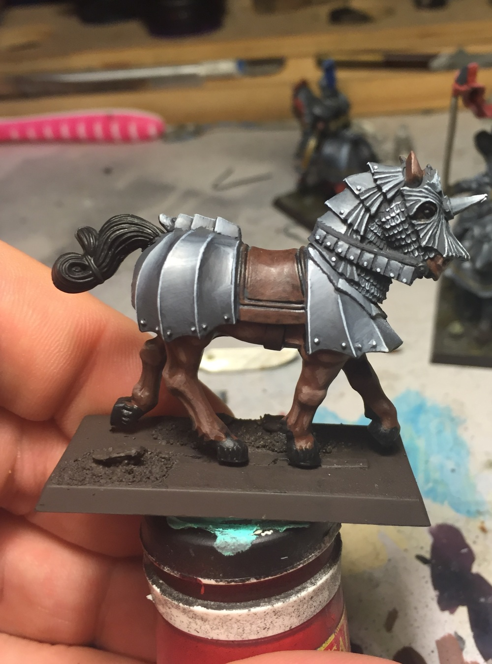 Final horse, obviously not complete but the armour is