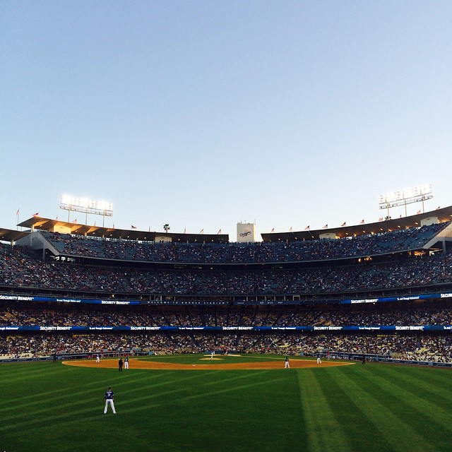 crazy how far I come and it's only preseason. (at Dodger Stadium)
