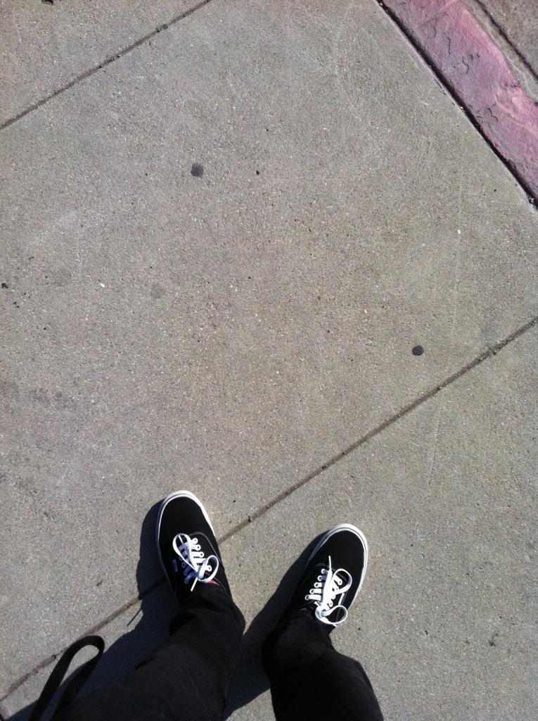 Walking to school. In hollywood. On lankershim.