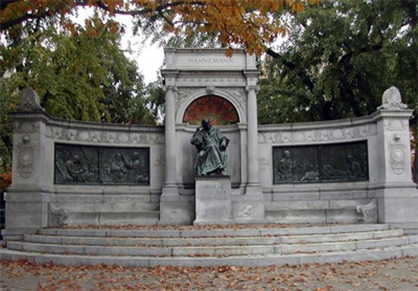Monument to Samuel Hahnemann, dedicated in 1900 by act of congress, it is Located in Scott Circle in Washington, DC.  President William McKinley and thousands of others, attended the ceremony.