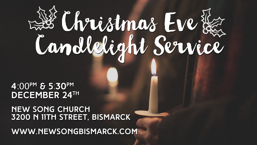 Join us on Christmas Eve for our Candlelight Services at 4 and 5:30PM. All are Welcome! Nursery will be available.
