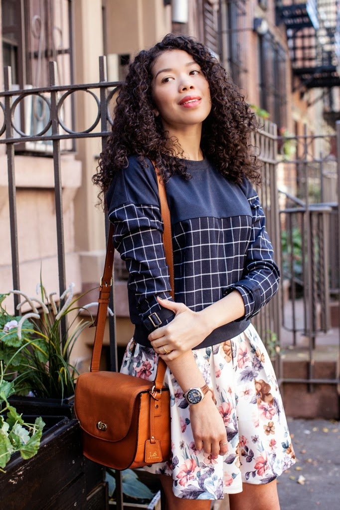 how-to-wear-floral-skirt-moments-of-chic-grid-sweater-cropped-best-curly-hairstyles-0001.jpg