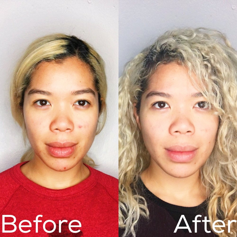 Pssst... here are my before and after shots from one month of using. Insane right?!